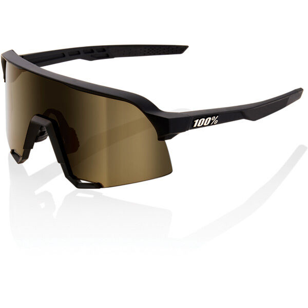 100% S3 - Soft Tact Black - Soft Gold Lens click to zoom image