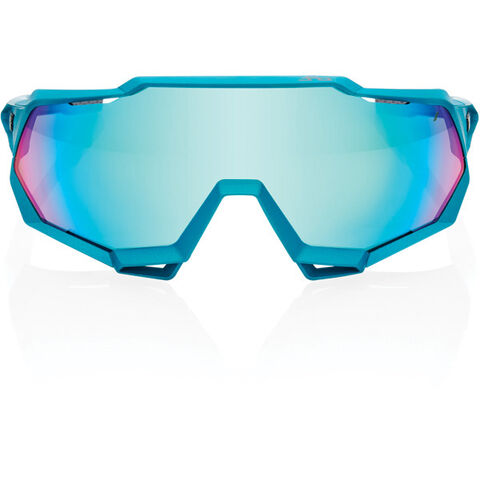 100% Speedtrap - Peter Sagan LE Blue Topaz - Blue Topaz Multilayer Mirror Lens click to zoom image