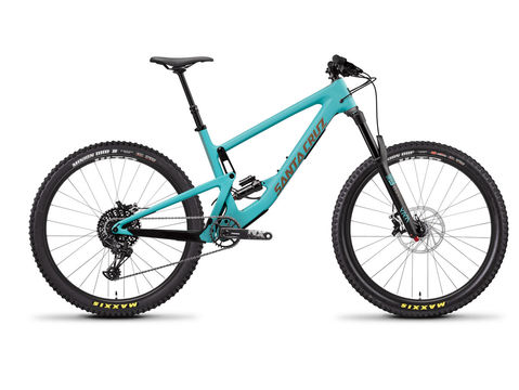 SANTA CRUZ BIKES Bronson C R+ Kit XS Industry Blue and Gold  click to zoom image